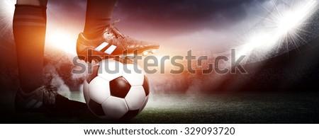 Soccer concept - stock photo