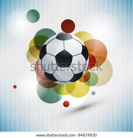 Soccer design background - stock photo