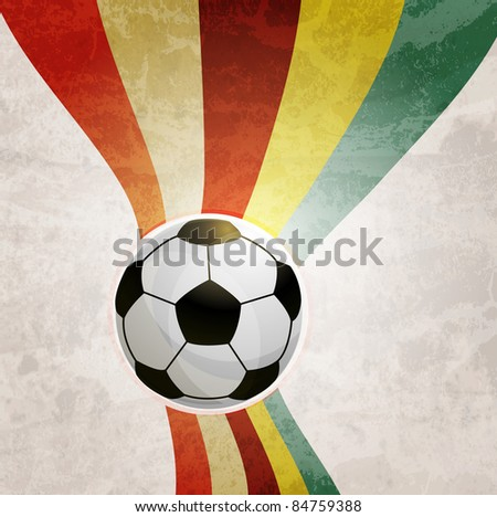 Soccer design background - stock photo