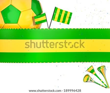 Soccer elements - stock photo