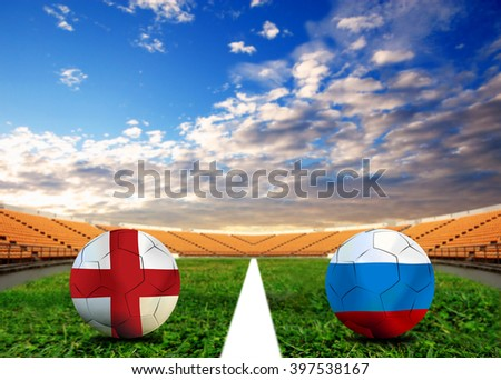 Soccer Euro 2016 ( Football )  England  and Russia