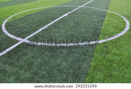 soccer field center,soccer field ,football field   - stock photo