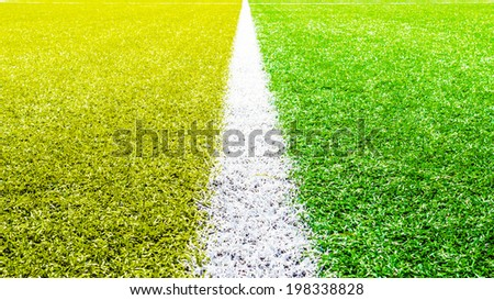 Soccer field day outdoor  - stock photo