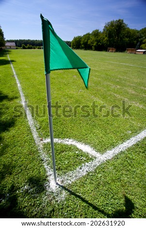 soccer field grass without people - stock photo
