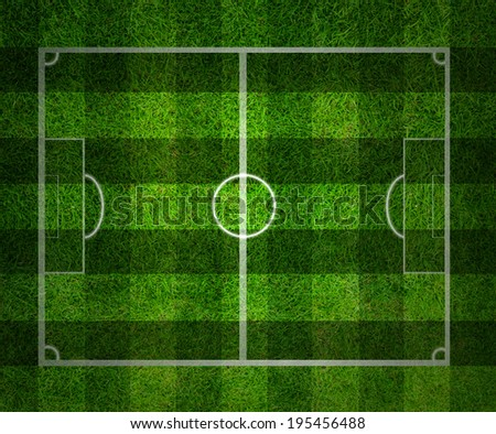 soccer field, Green grass background and texture