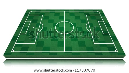 soccer field isolated on white background