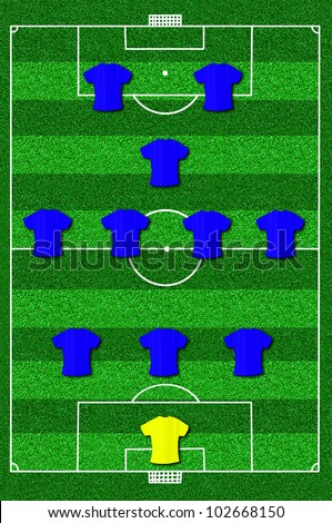 soccer positions stock photos  royalty free images  amp  vectors    soccer field layout   formation