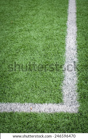 Soccer Field Line detail for Backgrounds or Texture - stock photo