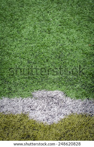 Soccer Field Line detail for Backgrounds or Texture