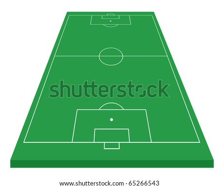 Soccer field on white background