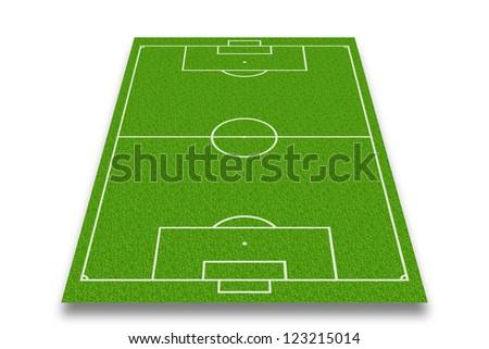 soccer field or football field - stock photo