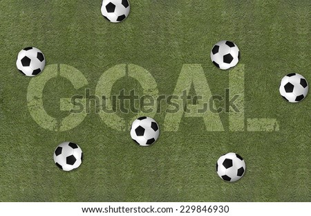 soccer field with ball pattern background