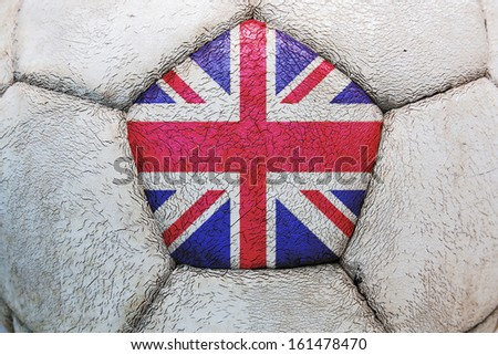 soccer flag uk - stock photo