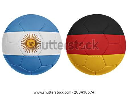 Soccer ( Football ) Argentina and Germany - stock photo