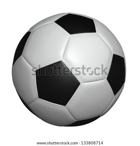 Soccer football ball - classic type, isolated on white, can be used for clipart or icon creation - stock photo