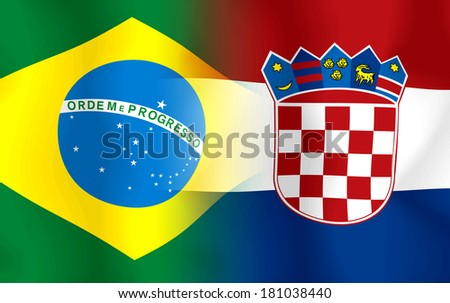Soccer 2014 ( Football) Brazil and Croatia - stock photo