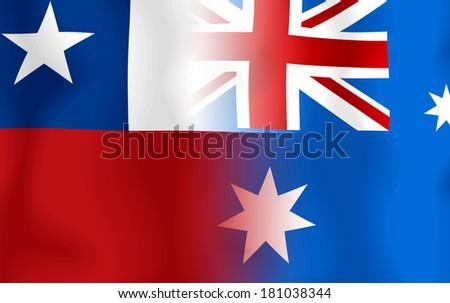Soccer 2014 ( Football) Chile and Australia - stock photo