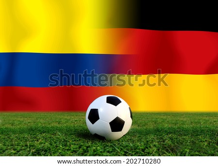 Soccer 2014 ( Football ) Colombia and German
