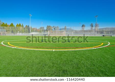Soccer ( football ) field marks. - stock photo