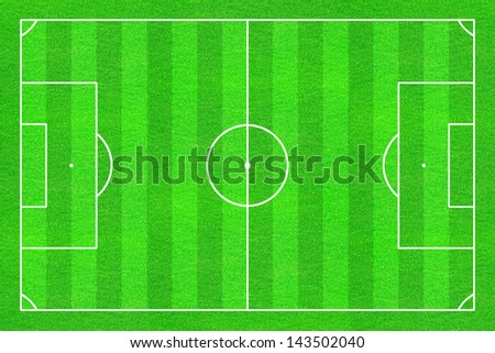 Soccer / Football field with white lines on green grass