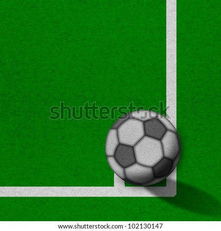 soccer - football field with white lines on grunge paper