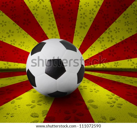 soccer football on color background seem nation flag - stock photo