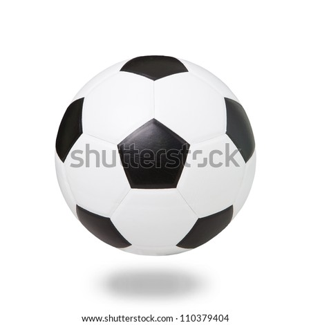soccer football on white  - stock photo