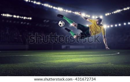 Soccer forward player  - stock photo