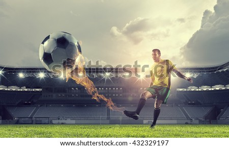 Soccer forward player