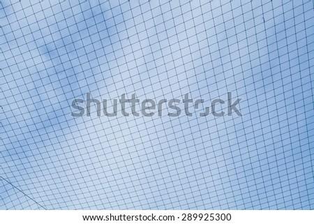 Soccer Goal Net against a Cloudy Sky - stock photo