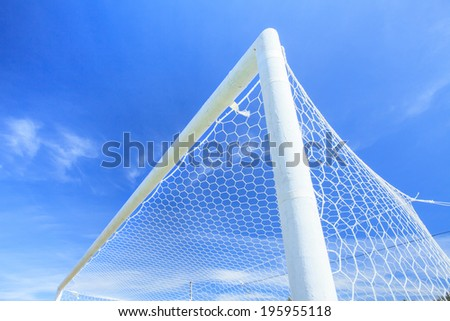 Soccer Goal ready for the Match. - stock photo
