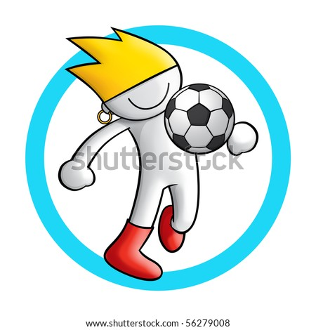 soccer icon 4 - stock photo