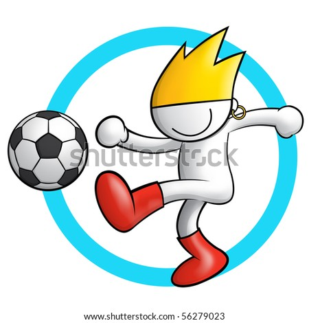 soccer icon 2 - stock photo