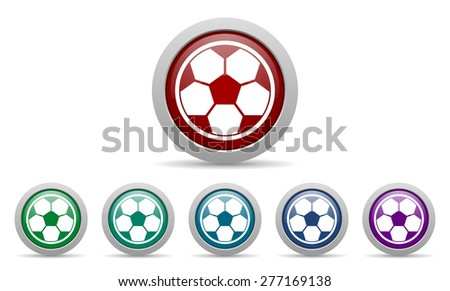 soccer icon football sign  - stock photo