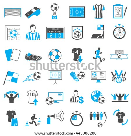 Soccer Icons Set - stock photo