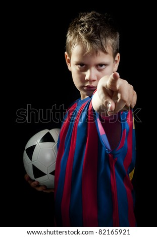 soccer kid points to you