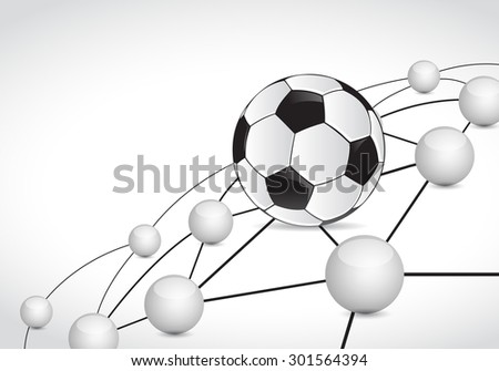 soccer link sphere network connection concept illustration design graphic background - stock photo