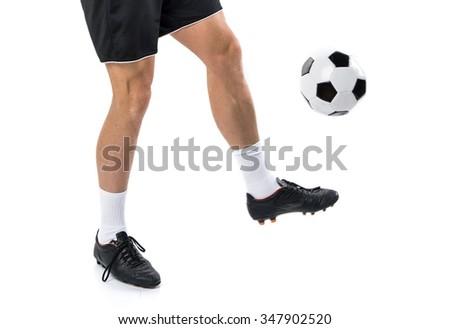 soccer man - stock photo