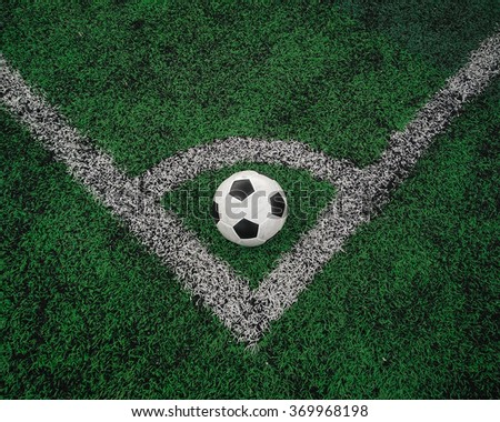 Soccer on field - stock photo