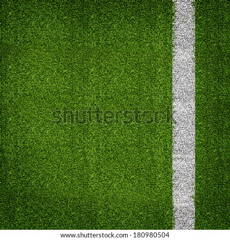 Soccer or football grass field  - stock photo