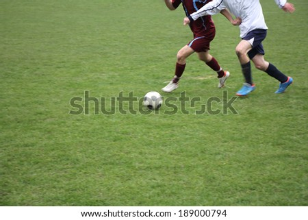 Soccer or football players in action on the field