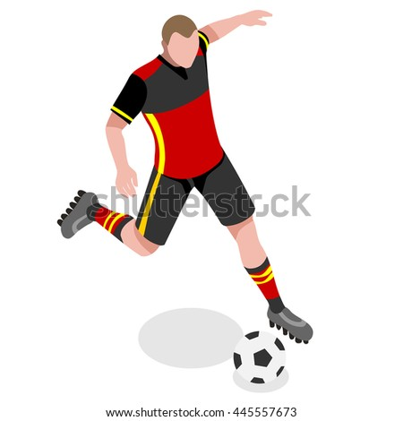 Soccer Player. Athlete Football Striker. World Soccer Championship. Concept of olympics Spirit. Football Match International Competition.Euro European Cup insight. Copa America Cup Illustration