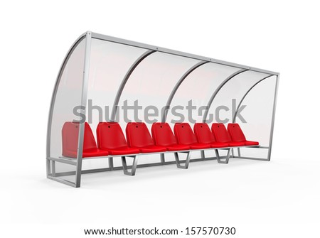 Soccer Player Bench - stock photo
