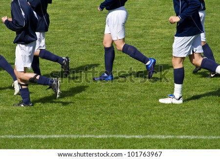 Soccer player running