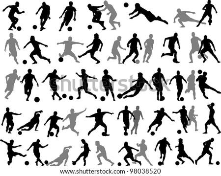 soccer player vector - stock photo