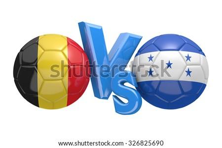 Soccer versus match between national teams Belgium and Honduras - stock photo