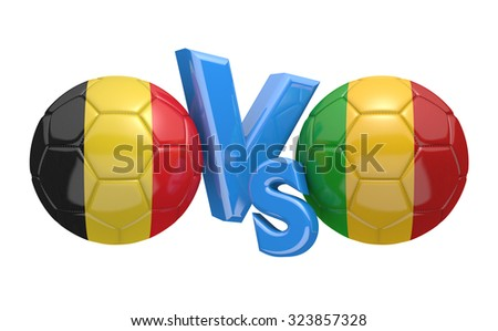 Soccer versus match between national teams Belgium and Mali - stock photo