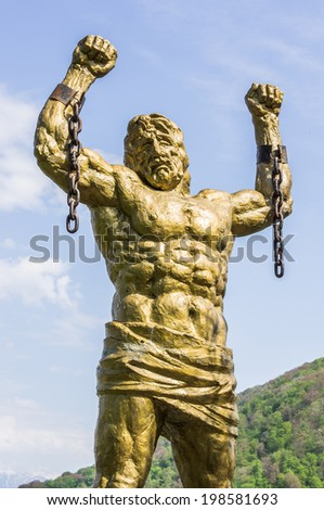 Image result for pictures of crimean prometheus statue