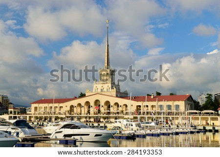 Sochi sea port. Sochi. Russia