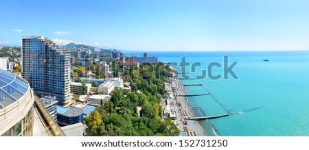 Sochi SPA Resort. Stitched Panorama - stock photo
